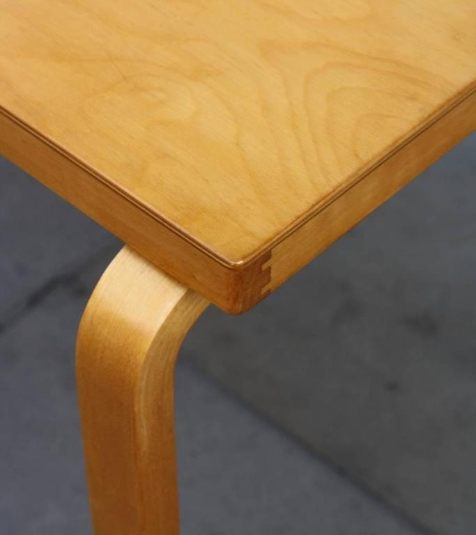 Birch Alvar Aalto Table 81B For Sale