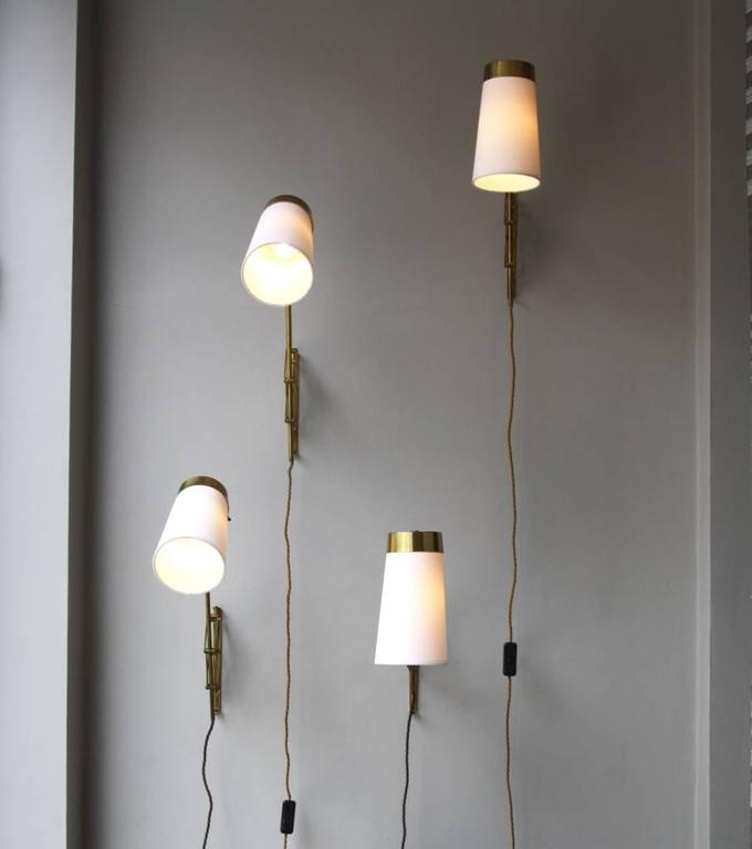 Vintage Danish Wall Lights : Vintage Danish 1950s Concertina Wall Light #3 For Sale at 1stdibs