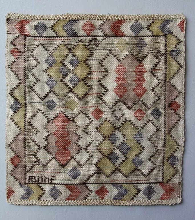Raw Linen Barbro Nilsson, Marta Maas-Fjetterström Swedish Textile For Sale