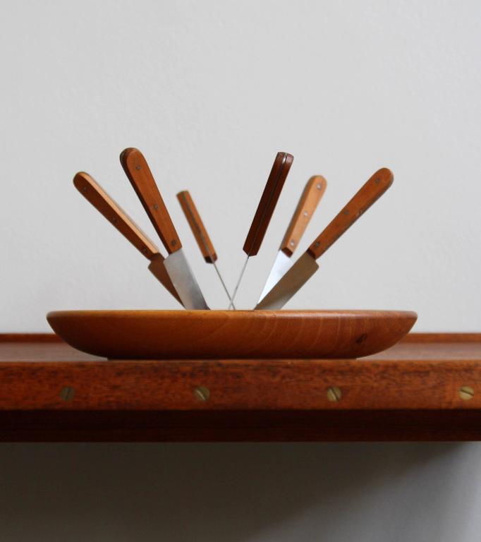 Carl Auböck II Fruit Knife and Bowl Set For Sale 3