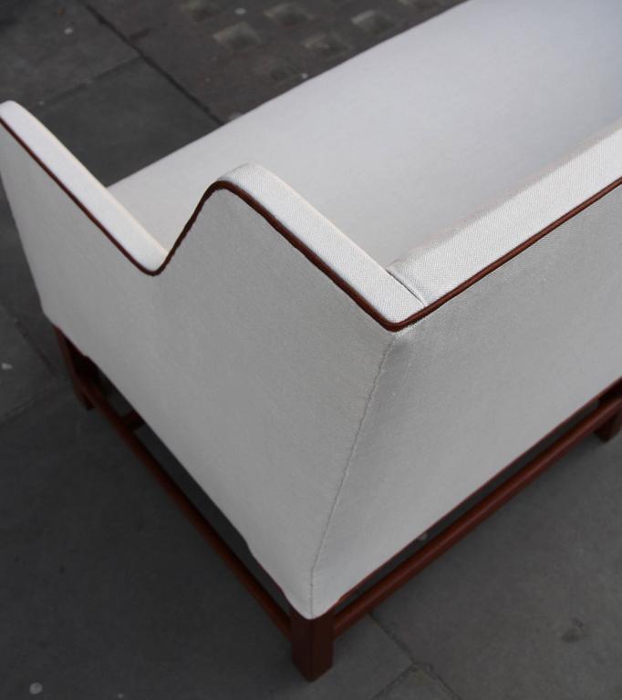 20th Century Kaare Klint Model 4118 Two-Seat Box Sofa by Rud Rasmussen For Sale