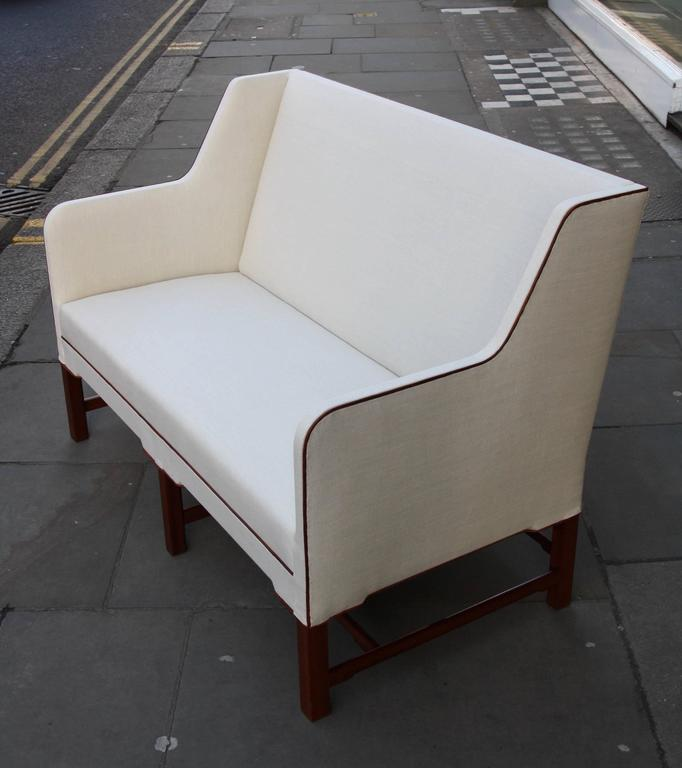 Kaare Klint Model 4118 Two-Seat Box Sofa by Rud Rasmussen For Sale 2