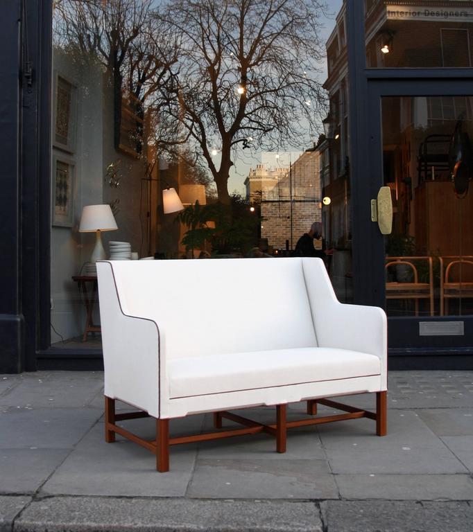 Kaare Klint Model 4118 Two-Seat Box Sofa by Rud Rasmussen For Sale 3