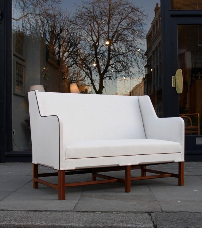Scandinavian Modern Kaare Klint Model 4118 Two-Seat Box Sofa by Rud Rasmussen For Sale