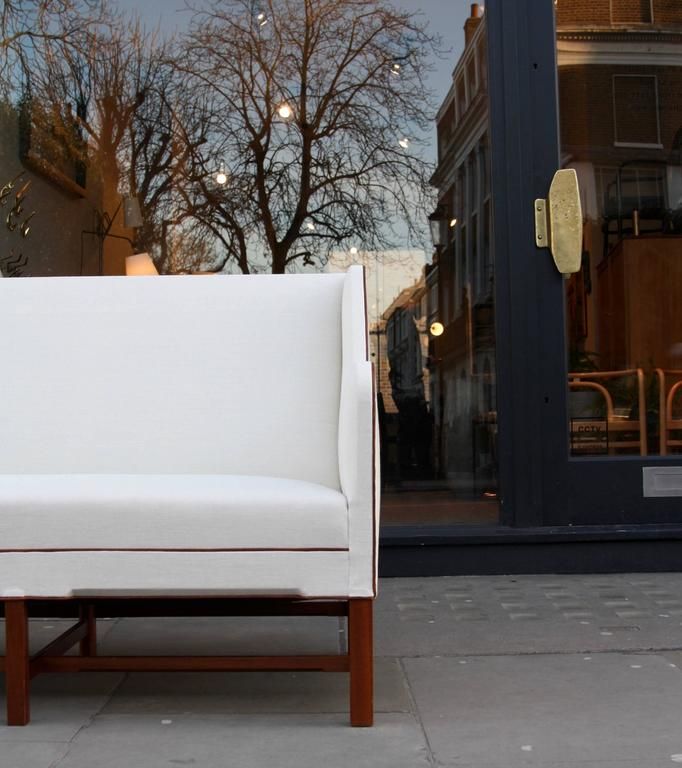 Kaare Klint Model 4118 Two-Seat Box Sofa by Rud Rasmussen In Excellent Condition For Sale In London, GB