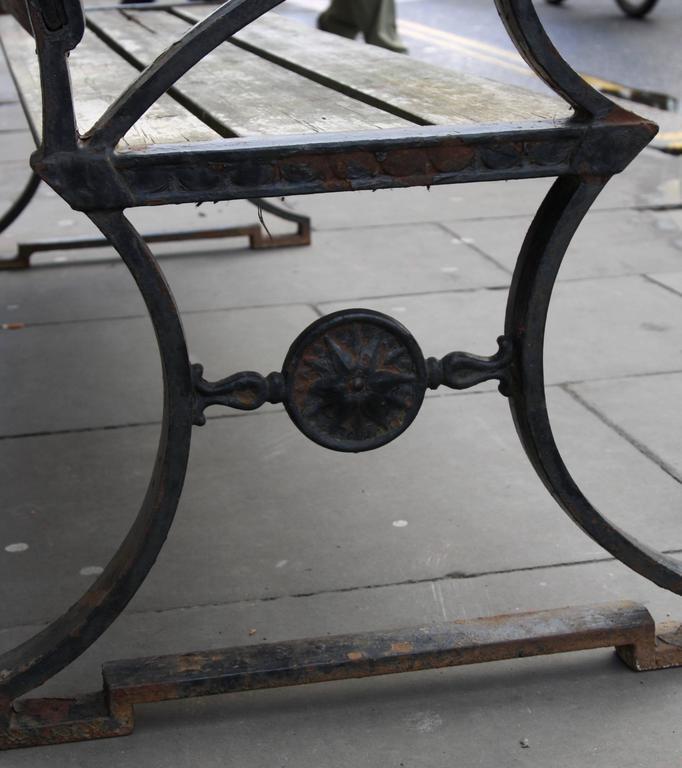 Folke Bensow 1920s Cast Iron Garden Bench 'Parkbänk Nr.3' by Näfveqvarns Bruk For Sale 1