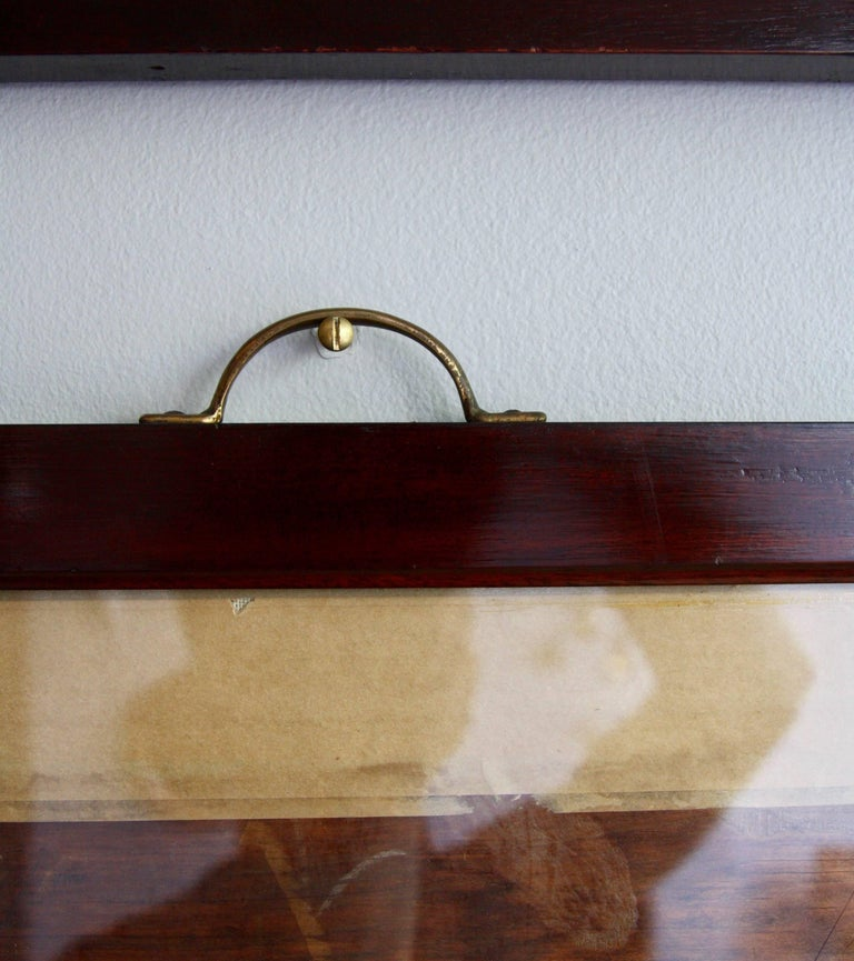 Antique Mahogany Frames/ Specimen Trays/ Museum Display Cases from the V&A In Good Condition For Sale In London, GB