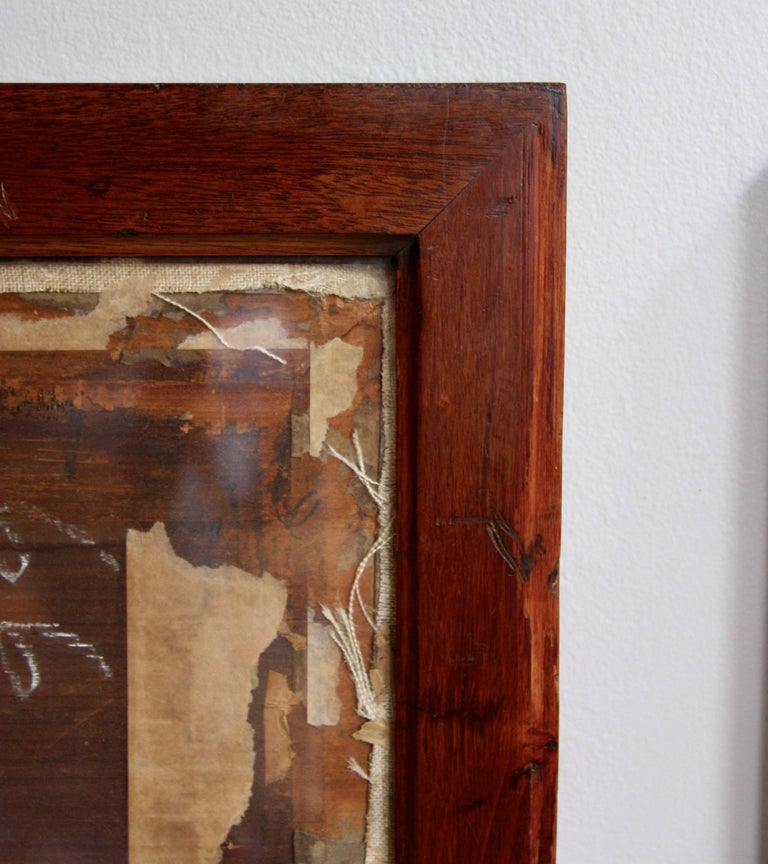 20th Century Antique Mahogany Frames/ Specimen Trays/ Museum Display Cases from the V&A For Sale