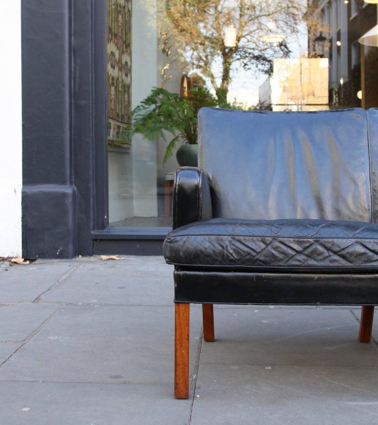 Kaare Klint Model 5313 Two-Seat Leather Settee by Rud Rasmussen, 1935 For Sale 2