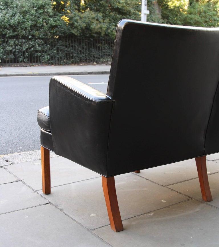Kaare Klint Model 5313 Two-Seat Leather Settee by Rud Rasmussen, 1935 For Sale 1