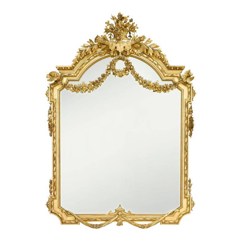 19th Century Napoleon III Giltwood Mirror