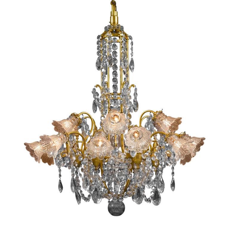 Eighteen-Light Baccarat Crystal Chandelier