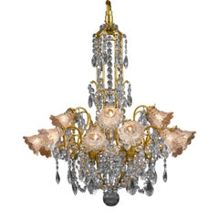 Eighteen-Light Baccarat Crystal Chandelier