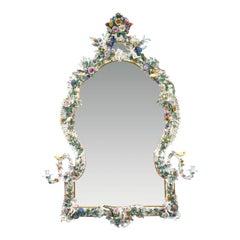 Meissen Porcelain Rococo Mirror