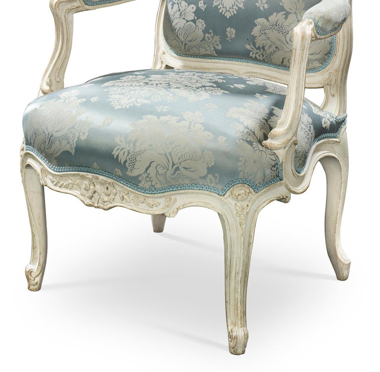 French Louis XV Armchairs by Jean-René Nadal l'Ainé For Sale