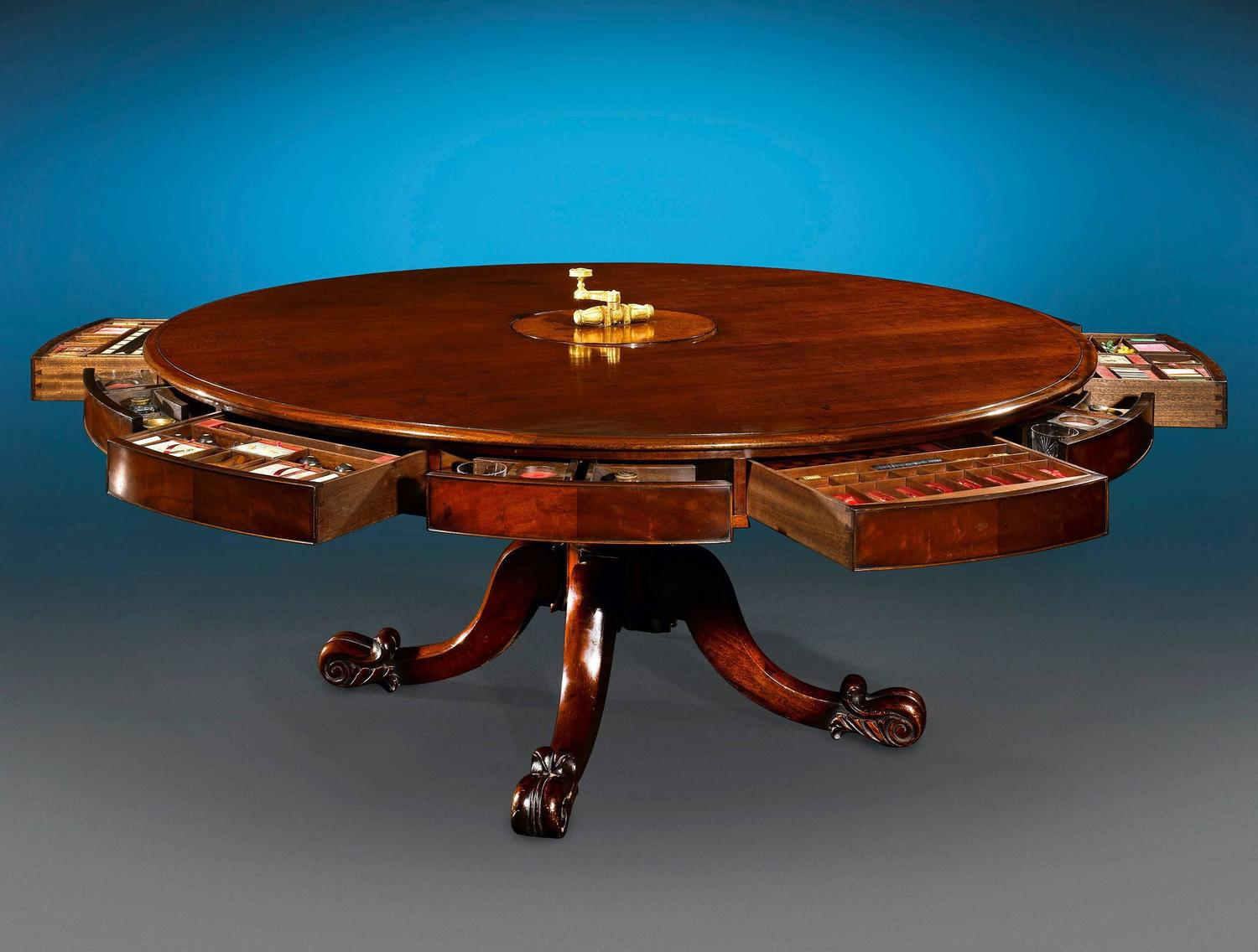 Irish Mahogany Dining And Games Table For Sale At 1stdibs