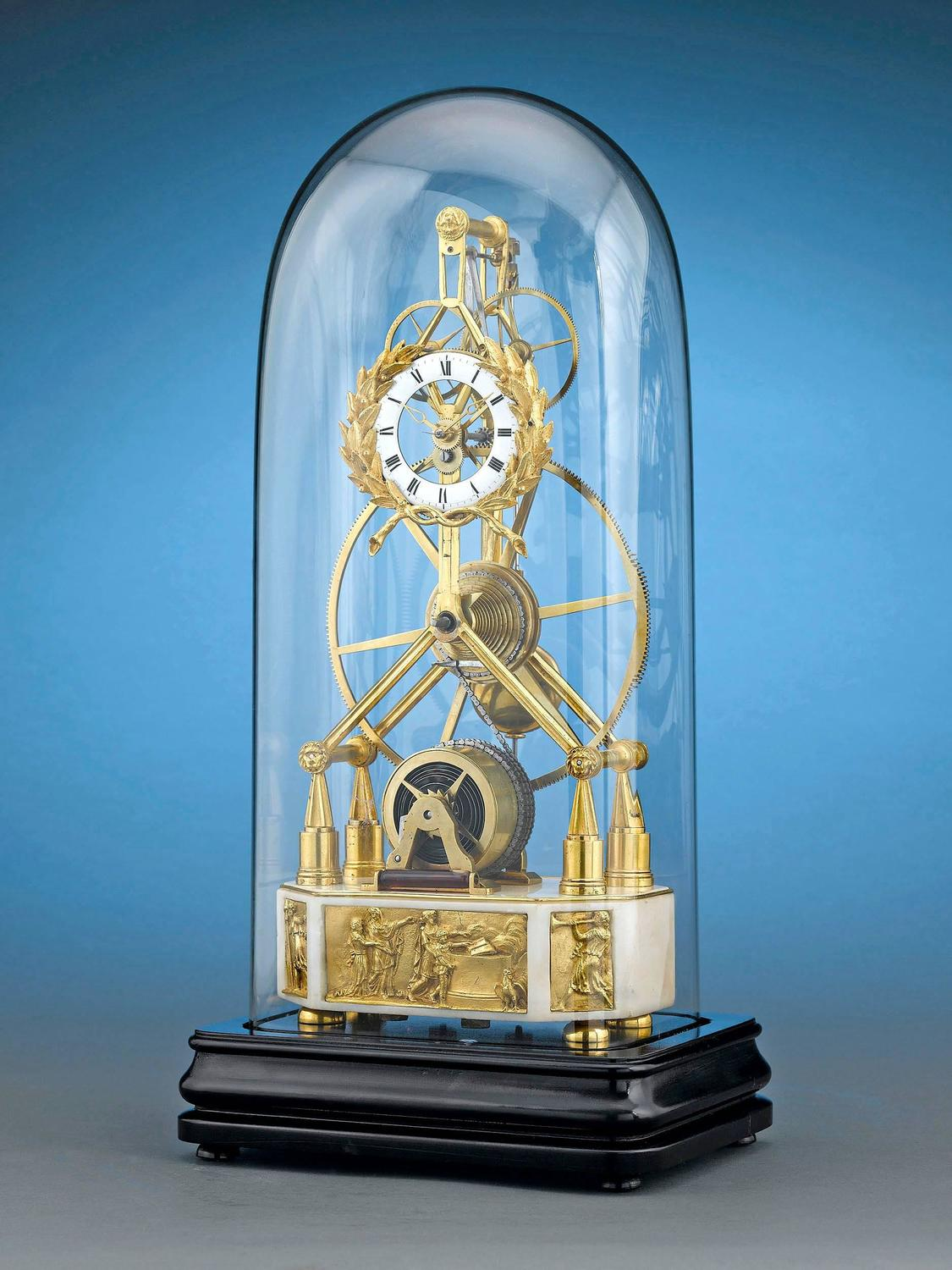 19th century great wheel skeleton clock for sale at 1stdibs