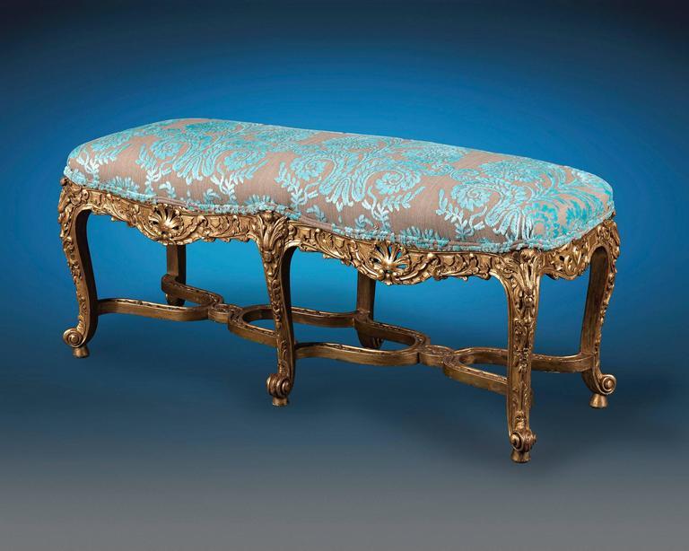 18th Century Louis XV Italian Giltwood Stool 2
