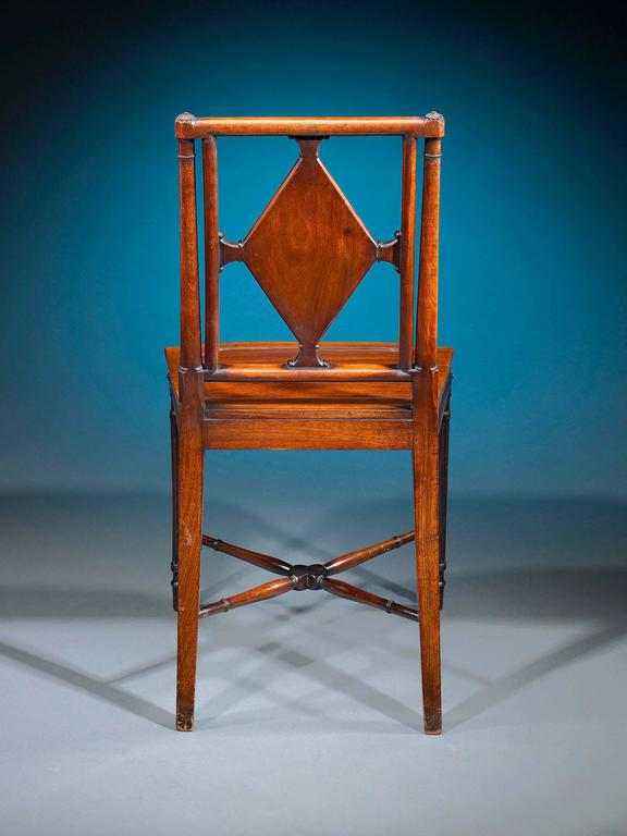 George III Mahogany Hall Chairs In Excellent Condition For Sale In New Orleans, LA