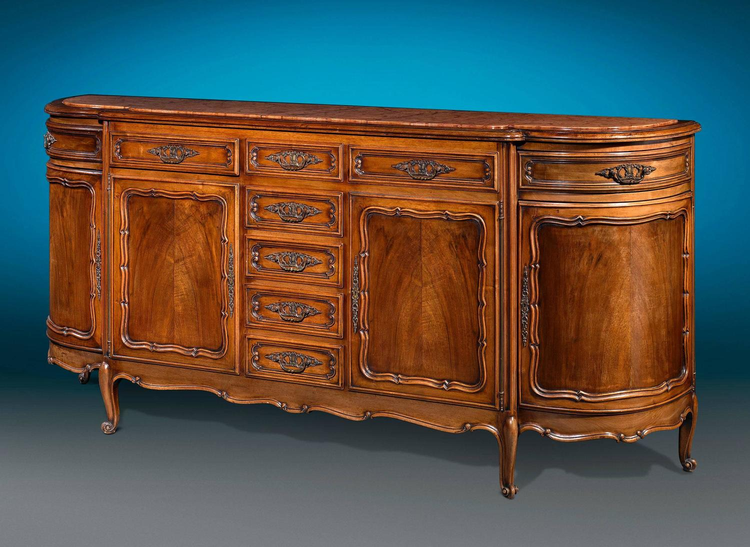 Red Marble Top : French provincial red marble top buffet for sale at stdibs