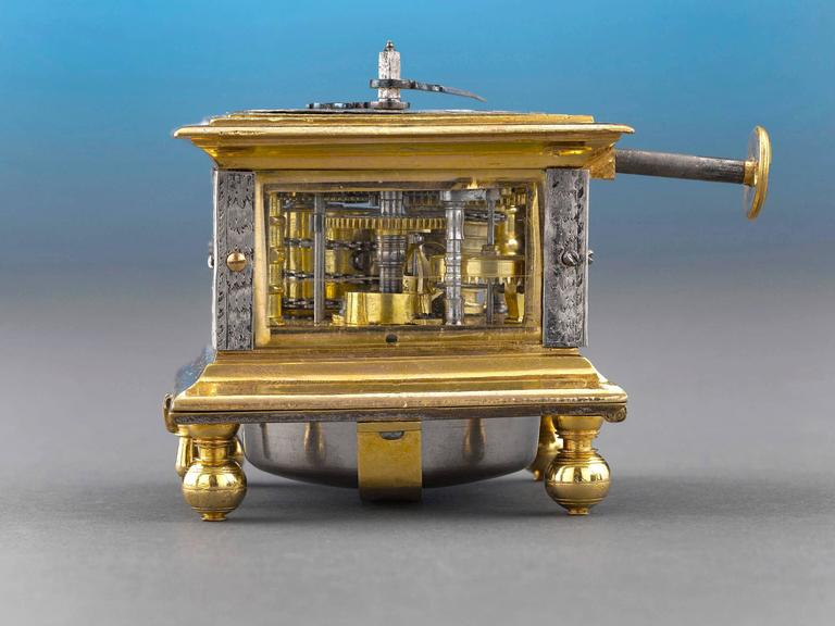 Other Renaissance Horizontal Table Clock For Sale