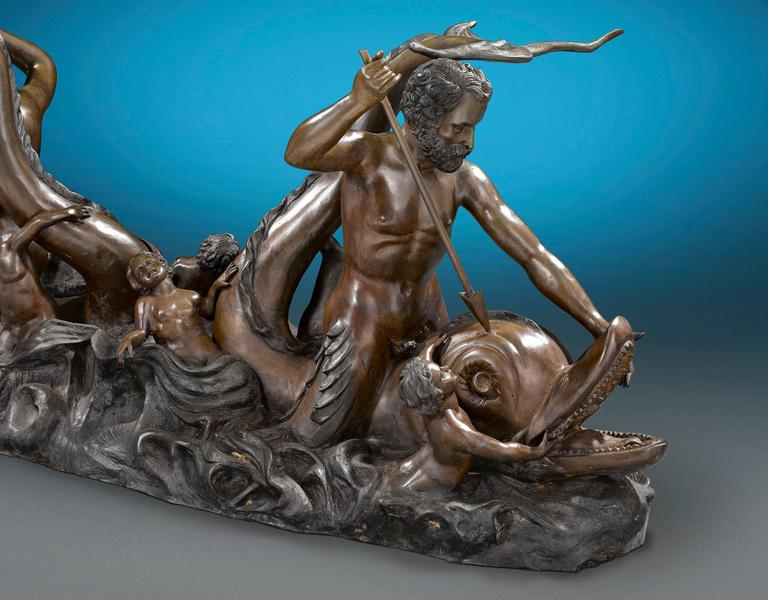 Nautical Bronze Sculptural Table In Excellent Condition For Sale In New Orleans, LA