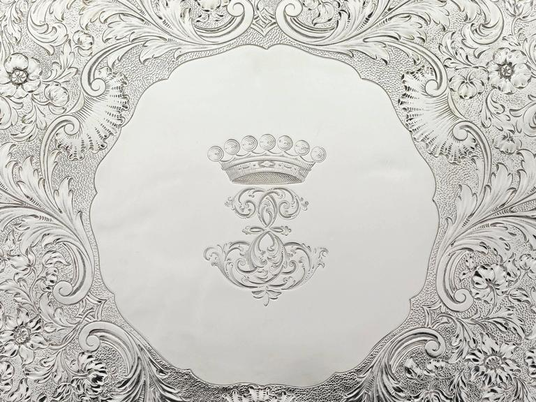 Regency William IV Silver Tray by Paul Storr For Sale