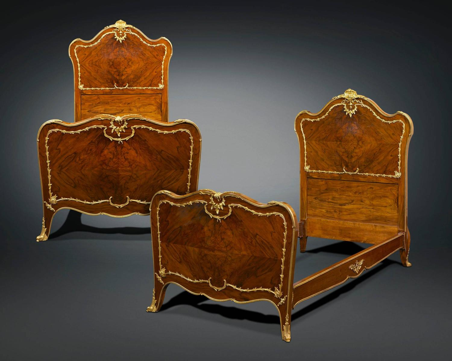 Pair of twin beds by francois linke for sale at 1stdibs for 2 twin beds for sale