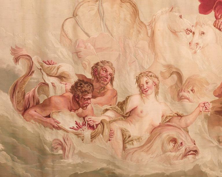 Rococo Aubusson French Wall Tapestry For Sale