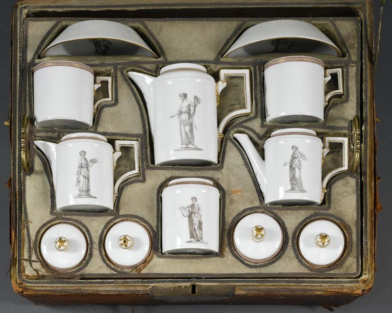German 18th Century KPM Porcelain Tea Service For Sale