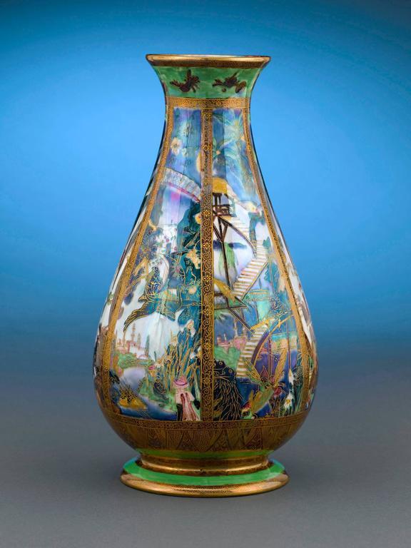 Pillar Fairyland Lustre Vase By Wedgwood At 1stdibs