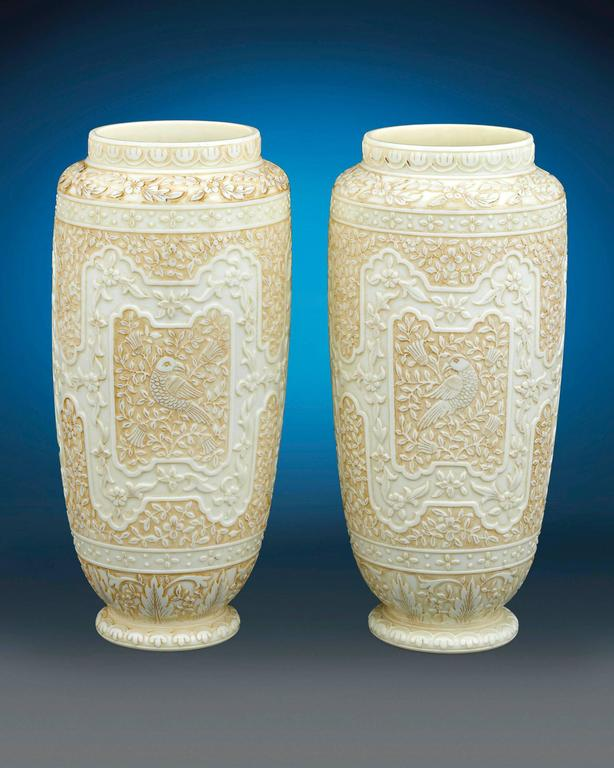 Cameo Glass Vases by Webb  For Sale 1