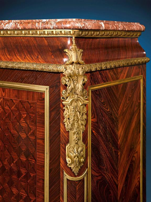 19th Century Louis XIV Inspired French Linen Press For Sale