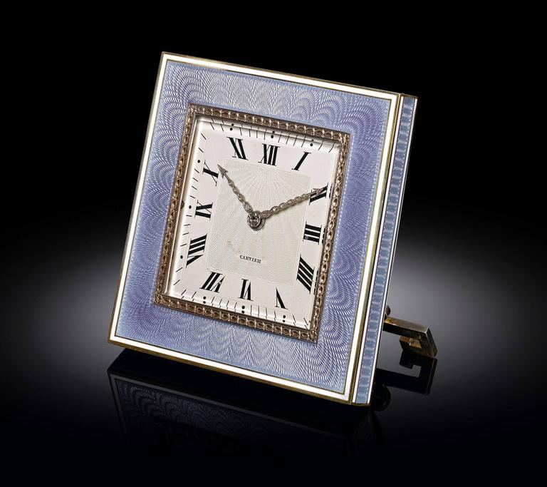 Desk Clock by Cartier In Excellent Condition For Sale In New Orleans, LA