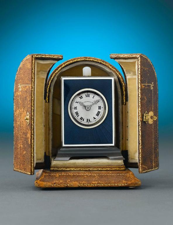 American Art Deco J.E. Caldwell Table Clock For Sale