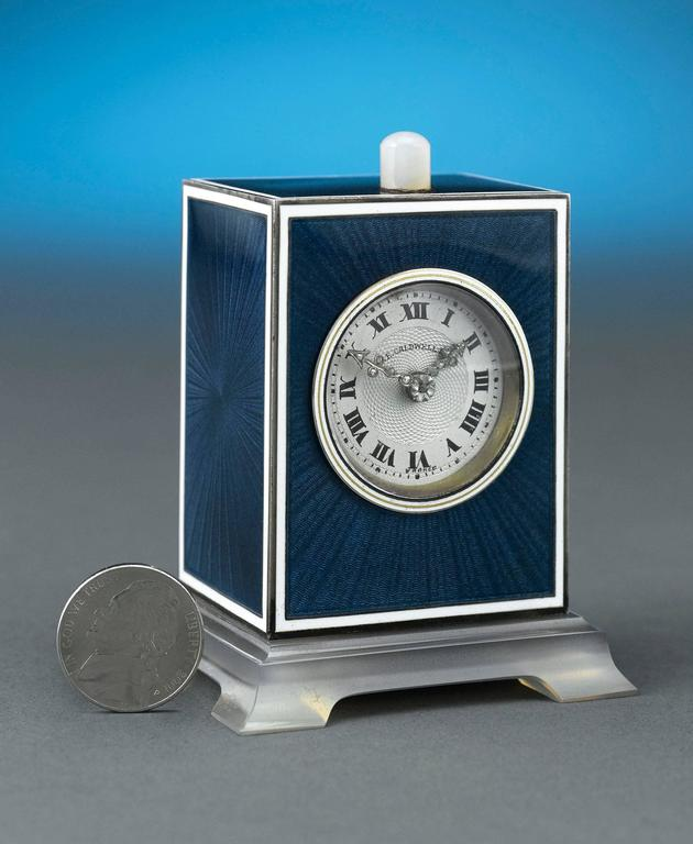 20th Century Art Deco J.E. Caldwell Table Clock For Sale