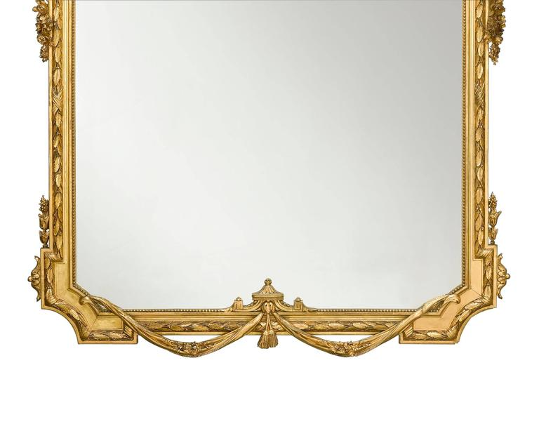 19th Century Napoleon III Giltwood Mirror In Excellent Condition For Sale In New Orleans, LA