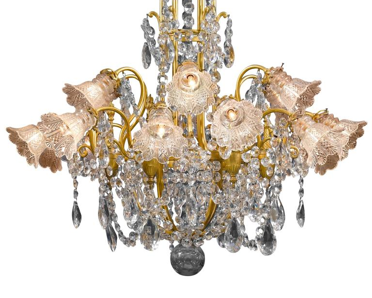 Other Eighteen-Light Baccarat Crystal Chandelier For Sale