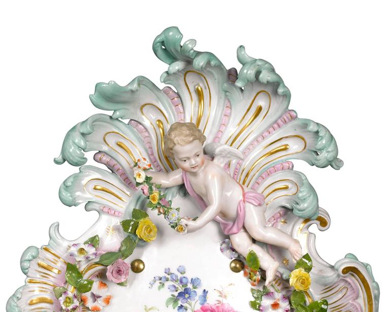 Rococo Meissen Wall Sconces For Sale