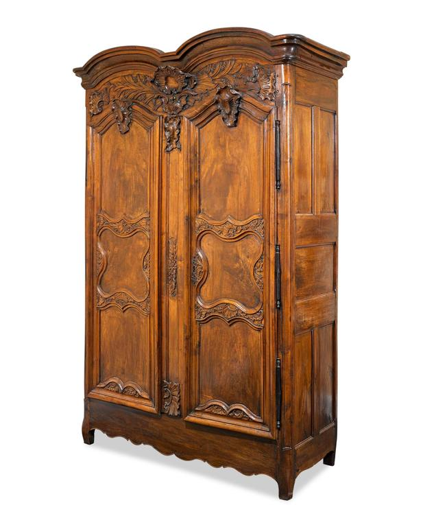 French Provincial Double Door Armoire For Sale 2