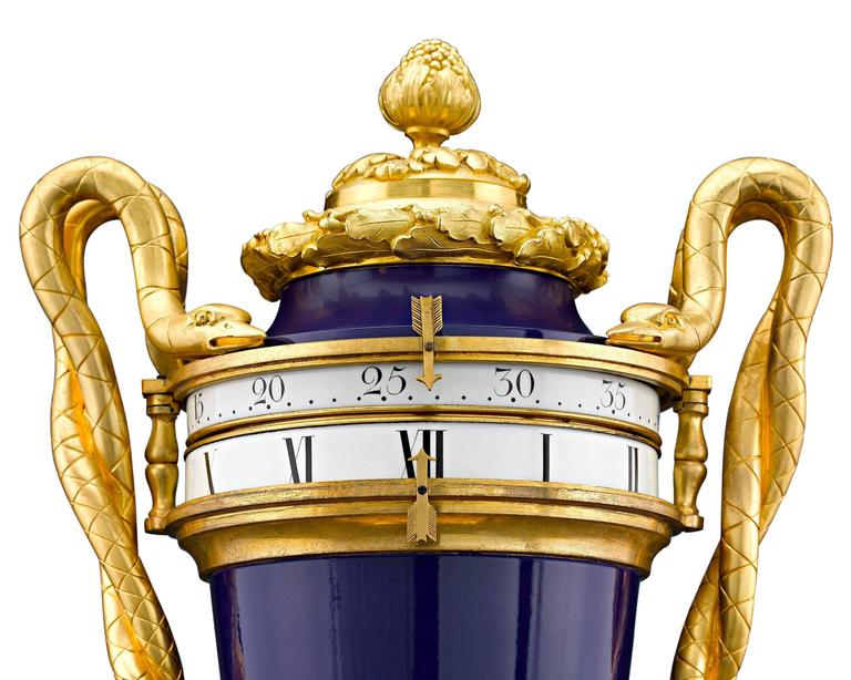 This important Napoleon III annular dial mantel clock is distinguished by its pendulum movement–a feature rarely seen in annular dial clocks. The pendulum movement is encased within the exceptional ormolu column crafted by Maison Marnyhac of Paris,