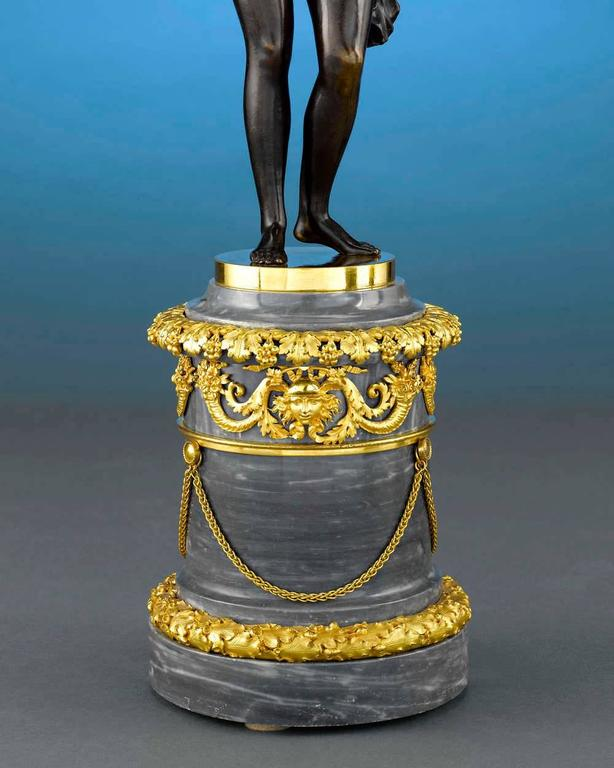 18th Century Russian Figural Bronze Candelabra In Excellent Condition For Sale In New Orleans, LA