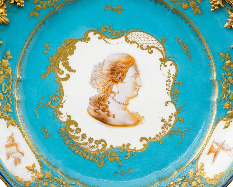 French Sèvres Porcelain and Ormolu Compotes For Sale