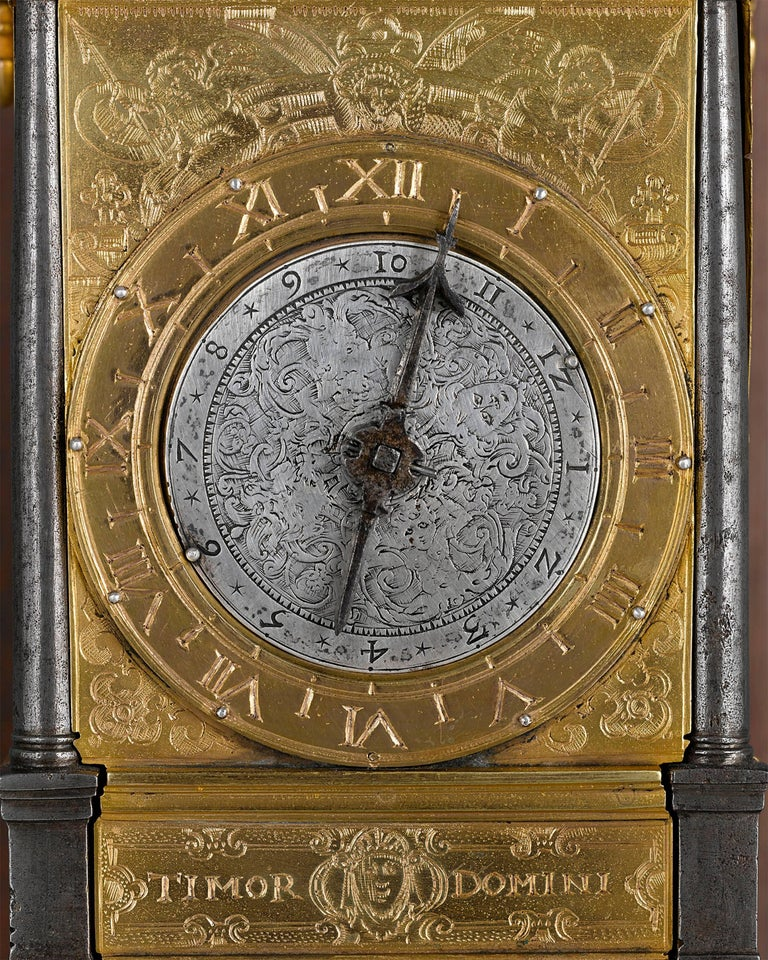 German 16th Century Renaissance Turret Wall Clock  For Sale