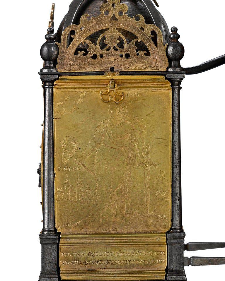 16th Century Renaissance Turret Wall Clock  In Excellent Condition For Sale In New Orleans, LA