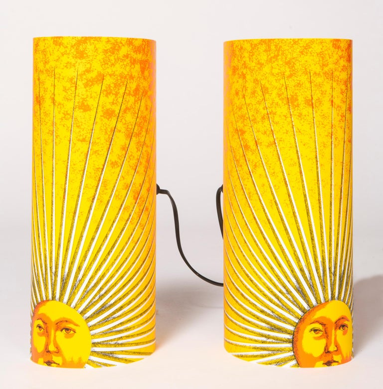 Pair of Small Perspex Table Lamps