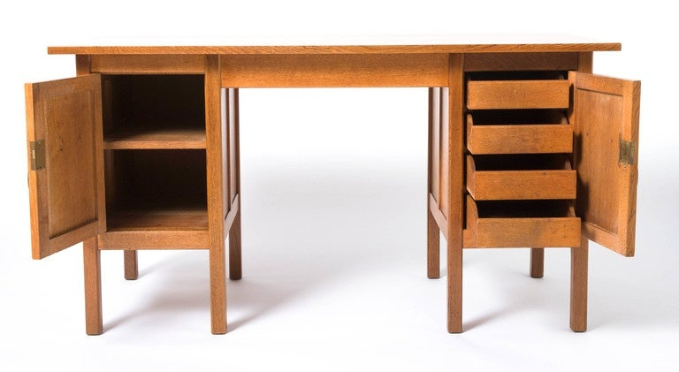 Gordon russell arts and crafts oak desk england circa for Crafting desks for sale