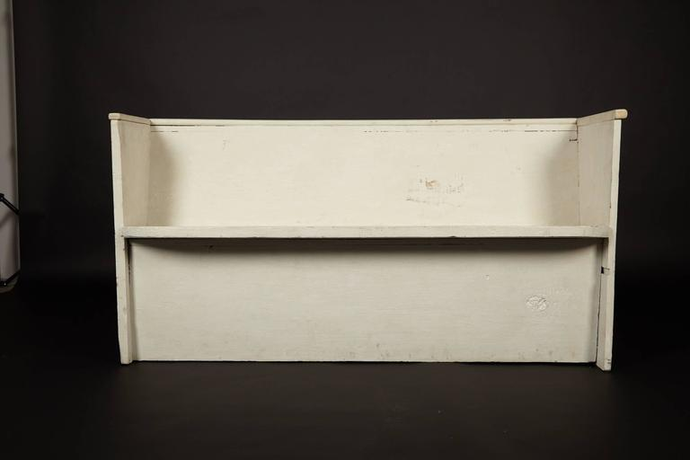 American 1890s Whitewashed Church Pew For Sale