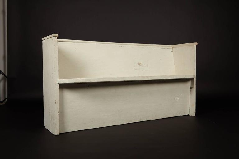 1890s Whitewashed Church Pew For Sale 2