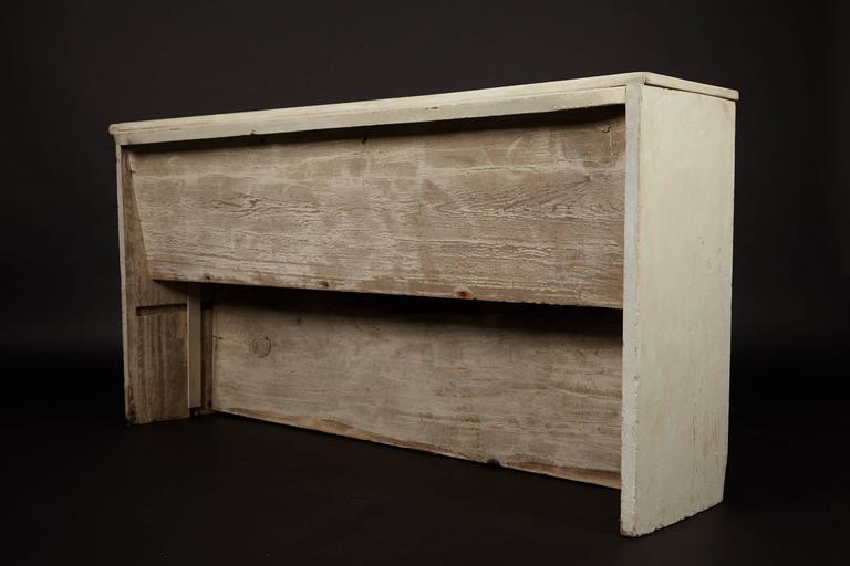 18th Century 1890s Whitewashed Church Pew For Sale
